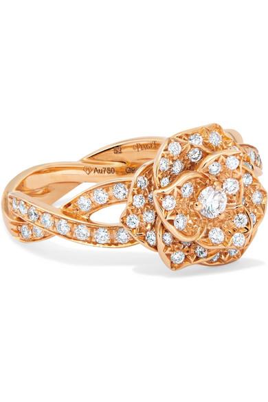 Piaget - Rose 18-karat Rose Gold Diamond Ring