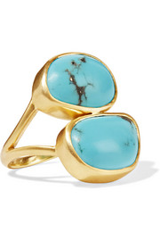 Pippa Small 18-karat gold turquoise ring