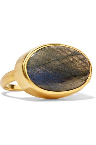 PIPPA SMALL 18-KARAT GOLD LABRADORITE RING