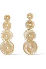 Rosantica Soffio gold-tone earrings