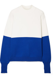Tory Sport Two-tone knitted sweater