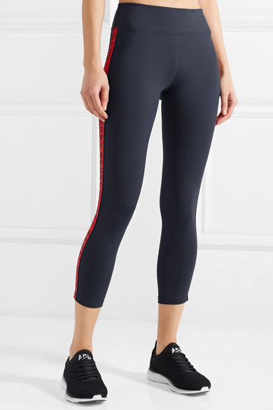 Tory Sport Banner verkürzte Leggings aus Stretch-Tactel®