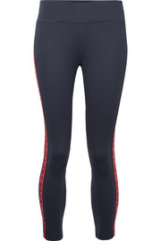 Tory Sport Banner cropped stretch-Tactel leggings