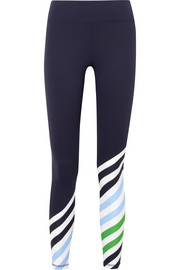 Striped stretch-Tactel leggings