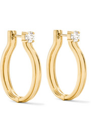 Jen Maia 18-karat gold diamond hoop earrings