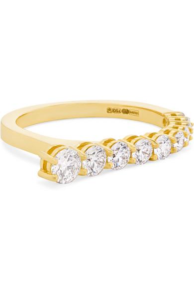 MELISSA KAYE Aria 18-Karat Gold Diamond Ring in Usd