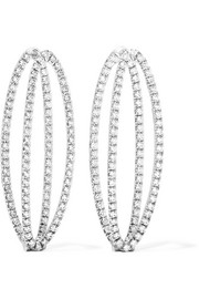 Mila 18-karat white gold diamond earrings
