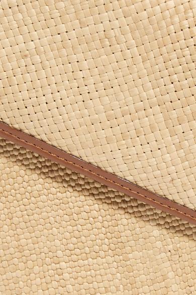 Hunting Season Iraca Schultertasche aus Raffiabast und Leder