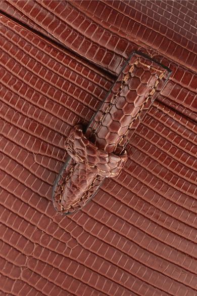 Hunting Season Square Trunk Schultertasche aus Eidechsenleder