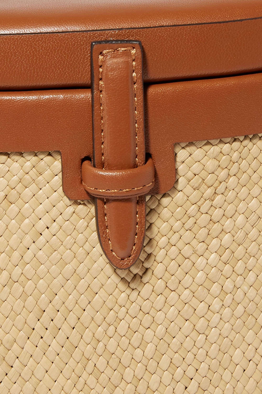 Hunting Season Iraca Trunk raffia and leather shoulder bag