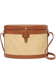 Hunting Season Iraca Trunk raffia and leather shoulder bag
