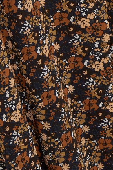 Madewell Maxikleid aus floral bedrucktem Georgette mit Wickeleffekt