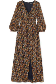 Madewell Wrap-effect floral-print georgette maxi dress