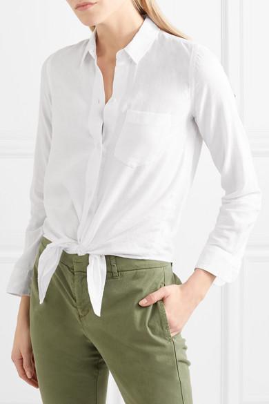 Madewell Baumwollhemd mit Bindedetail
