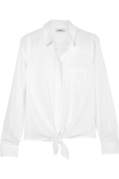Madewell Baumwollhemd mit Bindedetail Neu Zu Verkaufen Freies Verschiffen Bester Platz MXNR5Kp9X1