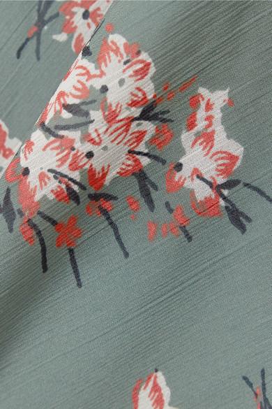 Madewell Gestufes Minikleid aus Voile mit floralem Print