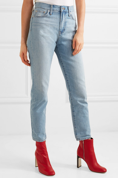 Madewell The Perfect Summer verkürzte, hoch sitzende Jeans mit geradem Bein