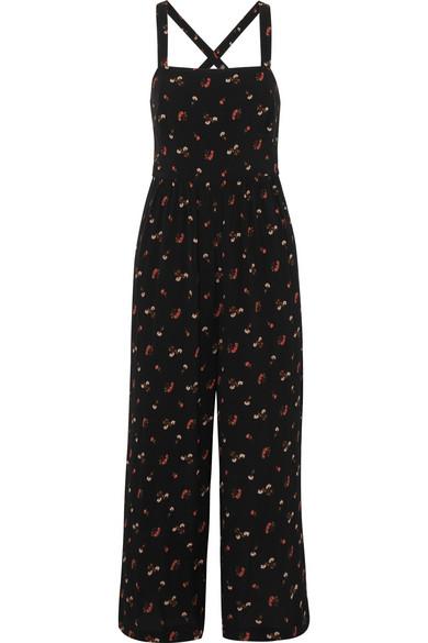 Madewell Jumpsuit aus Crêpe mit Blumenprint