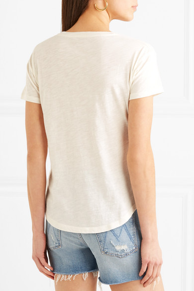 Made Well Whisper Embroidered T-shirt In Cotton Jersey With Flammgarneffekt