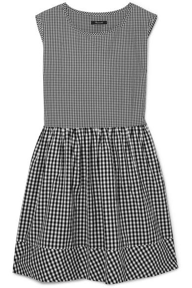 Madewell Kleid aus Baumwollpopeline mit Gingham-Karos