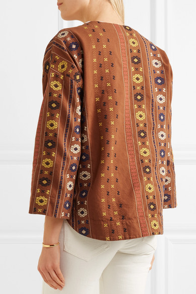 Madewell Bestickte Jacke aus Baumwoll-Canvas
