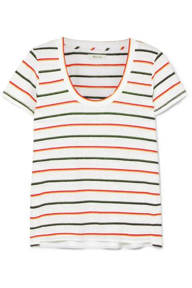 Madewell Gestreiftes T-Shirt aus einer Leinenmischung