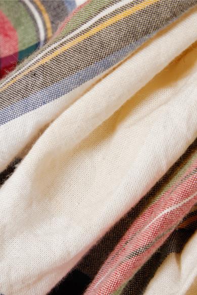 Vivienne Westwood Virginia drapiertes Baumwollkleid mit Tartan-Muster