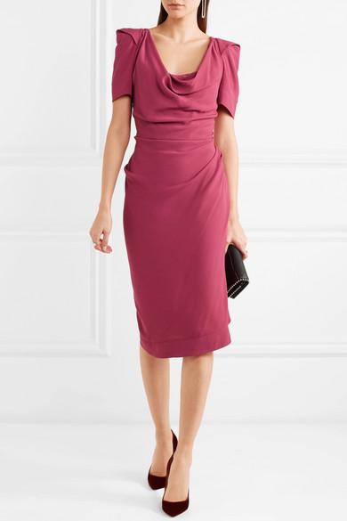 Vivienne Westwood Virginia drapiertes Kleid aus Crêpe