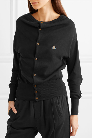 Vivienne Westwood Embroidered Cardigan Made Of Cotton