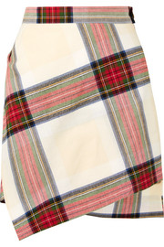 Vivienne Westwood Asymmetric tartan cotton mini skirt