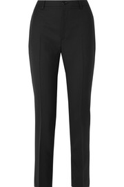 Serge wool-twill straight-leg pants
