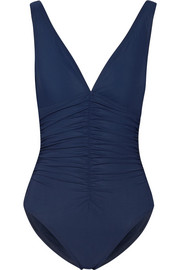 Karla Colletto Basic ruched underwired swimsuit