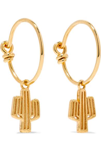 II - Cacti Gold-plated Earrings