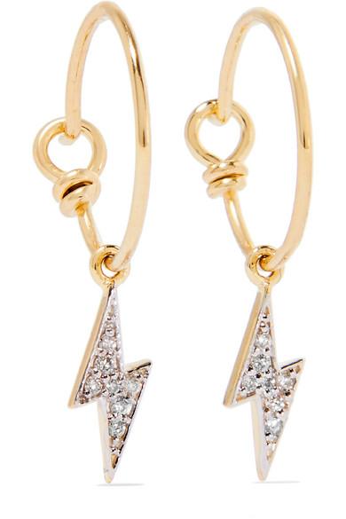II - Lightning Bolt 14-karat Gold Diamond Earrings