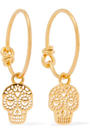 Day of the Dead gold-plated earrings