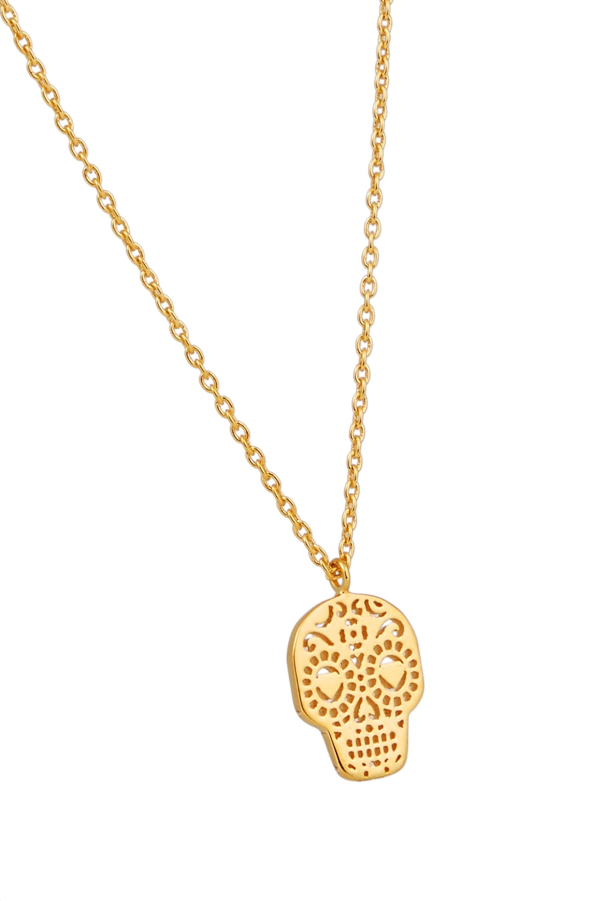 I+I Day of the Dead gold-plated necklace