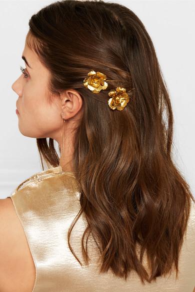 Jennifer Behr Set Of Two Gold-plated Hair Slides 3OIB0vU