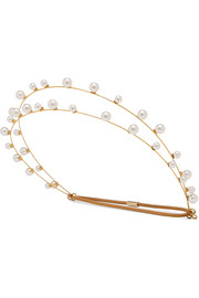 Gold-plated Swarovski pearl headband