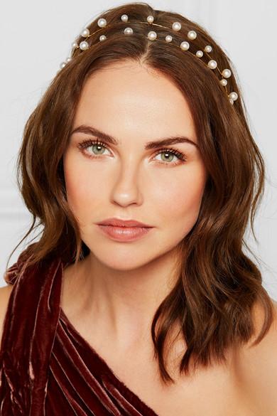 Jennifer Behr. Gold-plated Swarovski pearl headband f7b834bf941
