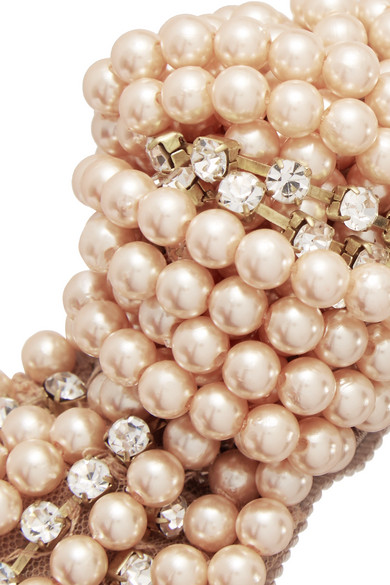 Jennifer Behr. Swarovski pearl and crystal-embellished satin headband.  £215. Zoom In 15d21e50868