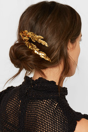 Gold-plated hair slide