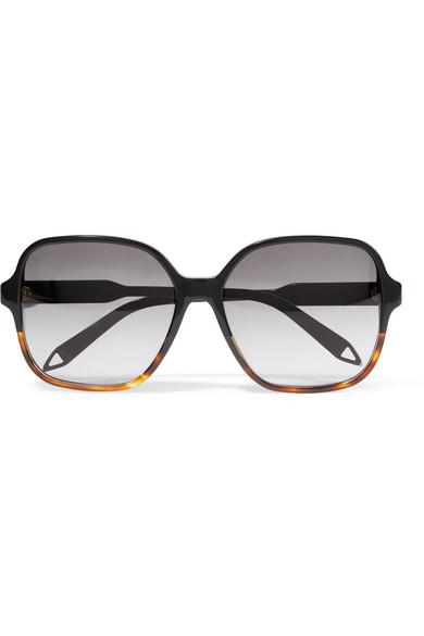 Ermäßigung Victoria Beckham Oversized Sonnenbrille mit Logo