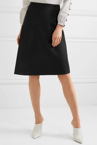 Wrap Effect Twill Skirt by Cefinn