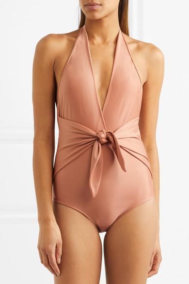 Adriana Degreas Neckholder-Badeanzug mit Knotendetail