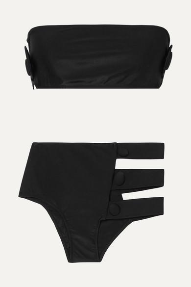 Adriana Degreas Cavalgade Bikini mit Knopfdetails