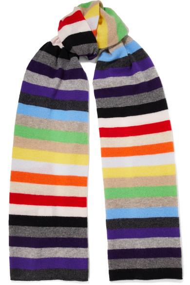 prix le moins cher vraiment à l'aise enfant Kotewall striped cashmere scarf
