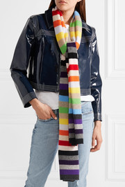 Kotewall striped cashmere scarf