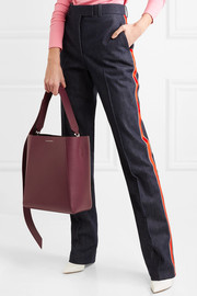 Buck Stripe leather shoulder bag