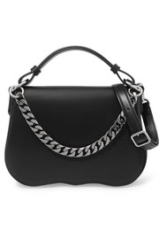 CALVIN KLEIN 205W39NYC Chain-trimmed leather shoulder bag