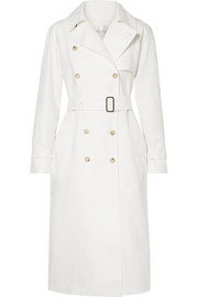 Max Mara Azeglio double-breasted linen trench coat